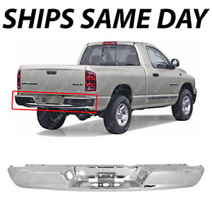 New Chrome Steel Rear Bumper Face Bar For 2002 2009 Dodge Ram 1500 2500 3500 Hd