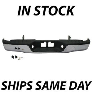 New Chrome Complete Steel Rear Bumper W Hardware For 2007 2013 Toyota Tundra
