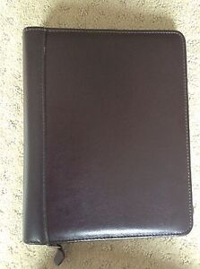 Classic Franklin Quest Covey Burgundy Leather 1 2 Pg Zip Planner Binder 5 5x8 5