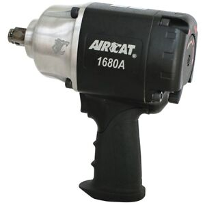 Aircat 1680a 3 4 Drive Super Duty Impact Wrench Aluminum Twin Hammer Quiet