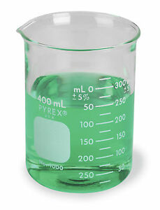 Pyrex Griffin Low Form 400ml Beaker Graduated 48cs