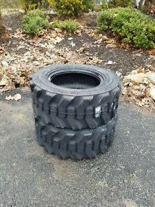 2 New Hd 23x8 5 12 Skid Steer tractor Tires 23x8 50 12 for Bobcat