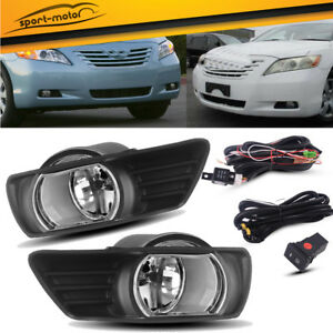 For 2007 2008 2009 Toyota Camry Clear Bumper Fog Lights Lamps switch wiring Pair
