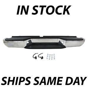 Chrome Complete Steel Rear Bumper Assembly For 2005 2018 Nissan Frontier Truck