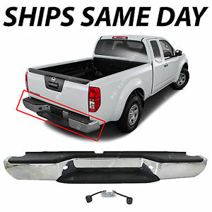 Chrome Complete Steel Rear Bumper Assembly For 2005 2016 Nissan Frontier Truck