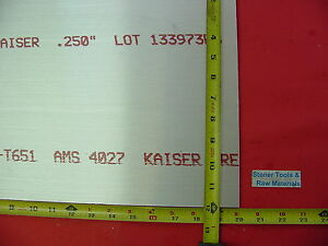 1 4 x 12 x 20 Aluminum 6061 Sheet Plate 250 Thick T6 New 12 Flat Bar Stock