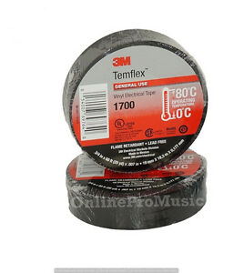 100 Pack 3m Temflex 1700 Black 3 4 X 60 General Use Vinyl Electrical Tape