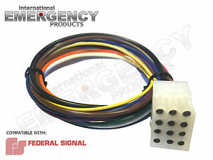 12 Pin Plug Harness Cable For Federal Signal Smart Siren Ss2000 Ss200 Vision