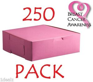 250 Pink Bakery Cookie Pastry Box 6 X 4 1 2 X 2 3 4 Made In Usa Bundle Pack