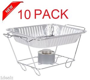 10 Pack Buffet Chafer Food Warmer Wire Frame Stand Rack Half Size Chafing Dish