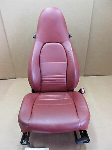 98 Boxster Rwd Porsche 986 R Passenger Red Leather 2 Way Seat 58 451
