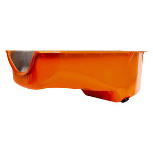 Rpc Engine Oil Pan R9005p Oe Style Stock Orange For Chevy 283 350 Sbc