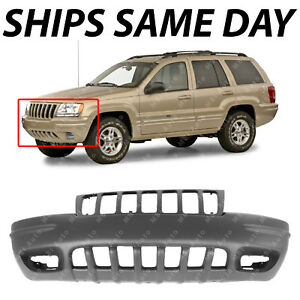 New Primered Front Bumper Cover For 1999 2000 Jeep Grand Cherokee Suv Limited