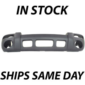 New Textured Gray Front Bumper Cover For 2002 2003 2004 Jeep Liberty Sport Suv