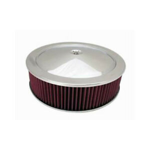 Rpc Air Cleaner Assembly R8001x Muscle Car Chrome Steel Round 14 000 4 000