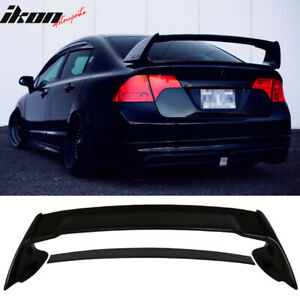 Fits 06 11 Civic Mugen Style Trunk Spoiler Painted Nighthawk Black Pearl B92p