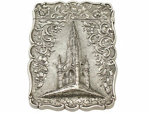Sterling Silver Card Case Antique Victorian