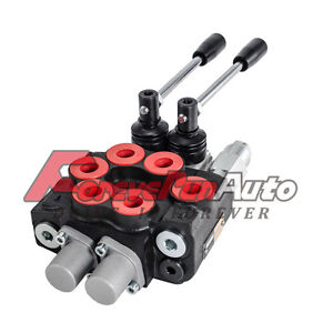 2 Spool 8 Gpm Mb21bb5c1 Double Acting Hydraulic Valve 9 7862