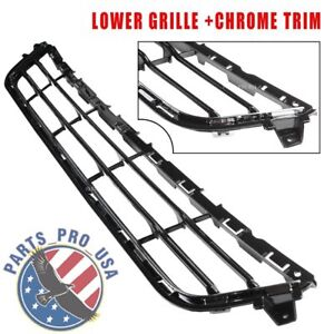New Lower Grille W Chrome Trim Fit Ford Fusion 2013 2016 Ds7z17k945ab Fo1036148