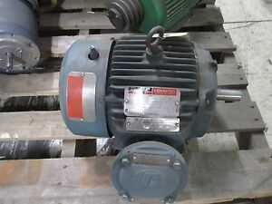 Reliance Ac Motor P18g4801b 5hp 3505rpm 230 460v 12 2 6 10a Frame 184t Used