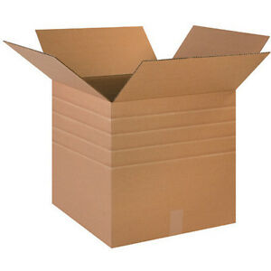 Multi depth Corrugated Boxes Ship Packing Moving 50 Sizes To Choose From 25 Ct