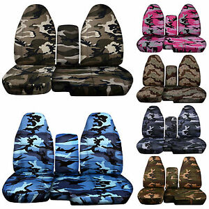 Fits 2004 2012 Ford Ranger Camo Car Seat Covers 60 40 Seat Console Cover Choose