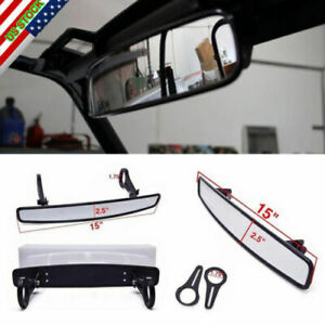 15 Rear View Convex Mirror Rzr 900 Xp1000 Utv Wide Race Offroad Panoramic