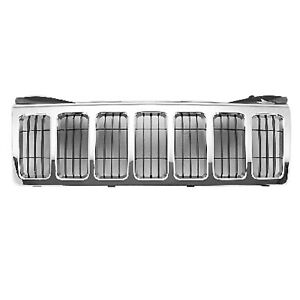 Replacement Chrome Grille For 2008 2010 Jeep Grand Cherokee Limited Models Capa