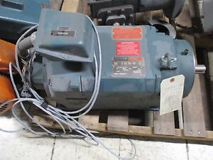 Reliance Electric Dual Speed Ac Motor 01klt74132 wy 10hp 1780 3560rpm 230v Used