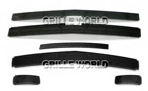 Aluminum Black Billet Grille Combo For 2007 2010 Chevy Silverado 2500 3500