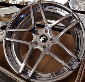 22 Forgiato Dieci Ecl Staggered 3 piece Wheels 5x130 Porsche Panamera