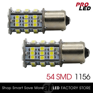 1156 Ba15s Rv Trailer Interior Led Bulbs Backup Tail Lights 54 Smd White
