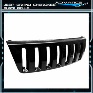 Fits 99 03 Jeep Grand Cherokee Wj H2 Look Front Bumper Grille Hood Grill
