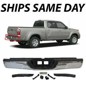 New Chrome Steel Rear Step Bumper Complete Assembly For 2000 2006 Toyota Tundra