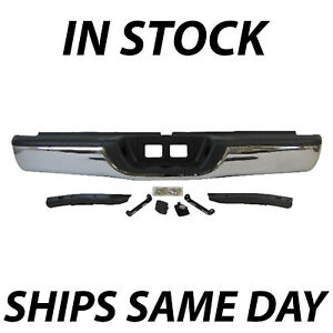 New Chrome Steel Rear Step Bumper Complete Assembly For 2000 2006 Toyota Tundra Fits 2002 Toyota Tundra