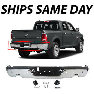 Complete Steel Chrome Step Bumper Assembly For 2009 2018 Dodge Ram 1500 W Park