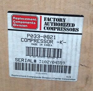 discount Hvac Cp p0330821 carrier Compressor 208 230v 1ph Hp ac Free Freight