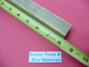 1 1 4 X 1 1 4 C360 Brass Square Bar 8 Long Solid 1 25 Flat Mill Stock H02