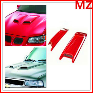 For Ford Mustang Camaro Universal Abs Paintable Hood Scoop 2pcs