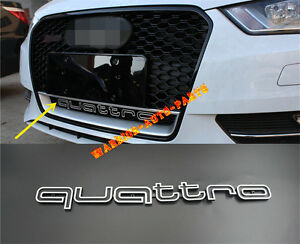 For Audi Rs Style Quattro Grill Emblem For Rs3 A3 A1 A4 A5 A7 Q7 Tt Rs4 Rs5 Rs6