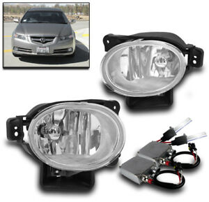 2007 2008 Acura Tl Front Lower Bumper Driving Fog Lights Chrome 50w 6k Xenon Hid