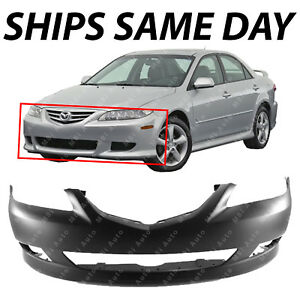 New Primered Front Bumper Cover Replacement For 2003 2004 2005 Mazda 6 Standard