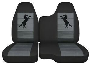 Car Seat Covers Black Charcoal Horse Fits 98 03 Ford Ranger 60 40 Bench Seat