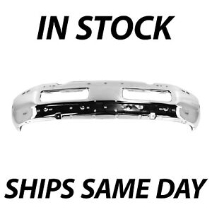 New Chrome Steel Front Bumper Face Bar For 1994 2001 Dodge Ram 1500 2500 3500