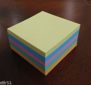 Refill Note Paper Lot Of 3 Loose Sheets 3 1 2 X 3 1 2 5 Colors