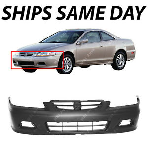 New Primered Front Bumper Cover For 2001 2002 Honda Accord Coupe 2 Door 01 02