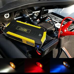 18000mah Car Jump Starter Power Bank With Smart Jump Cable Sos Flashlight Blade
