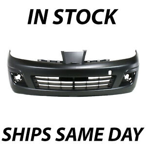 New Primered Front Bumper Cover Fascia Replacement For 2007 2012 Nissan Versa