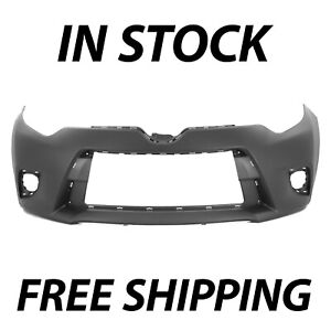 New Primered Front Bumper Cover For 2014 2015 2016 Toyota Corolla Sedan 14 16