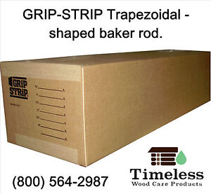 Grip strip Trapezoid Profile Backer Rod For Log Home Construction 21 2 x260 ft
